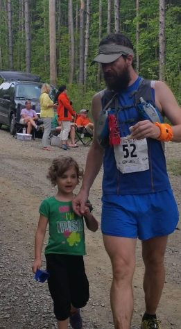 Proud Dad with Riley at Twisted Branch. Chris finished his goal race strong